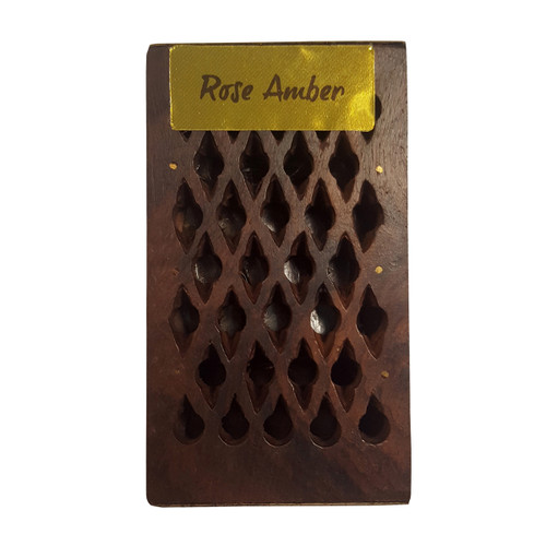 Rose / Amber Incense Resin in Wooden Box