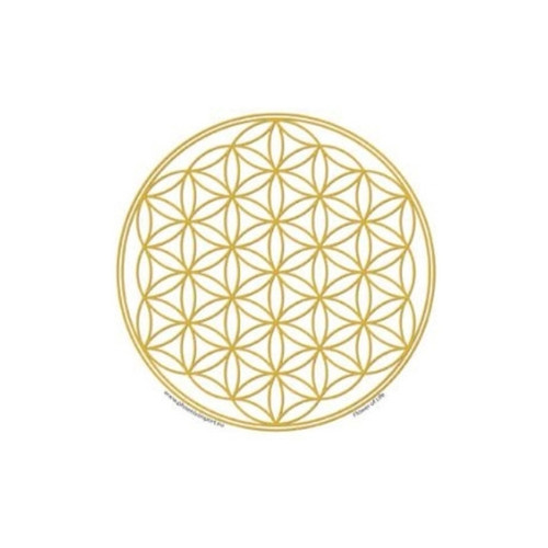 Flower of Life Window Sticker (Gold)