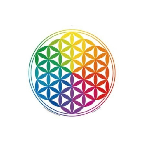 Flower of Life Window Sticker (Multi-Coloured)