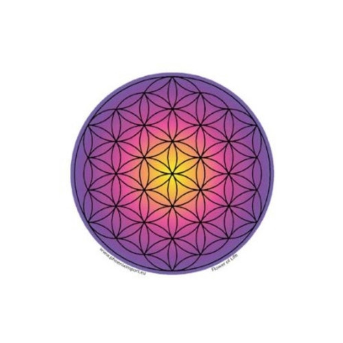 Flower of Life Window Sticker (Purple)