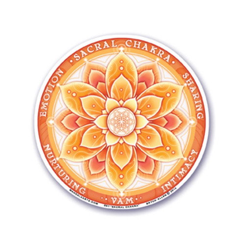 2nd Sacral Chakra Window Sticker