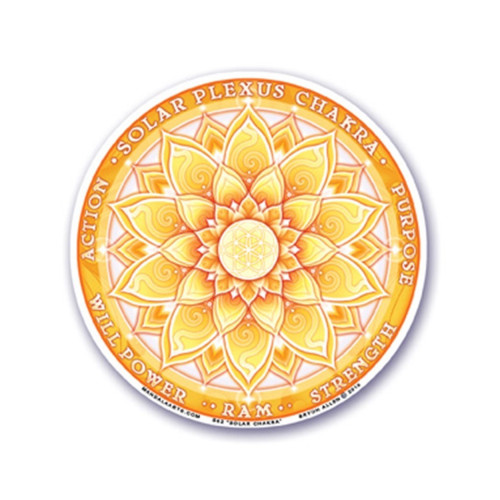 3rd Solar Plexus Chakra Window Sticker