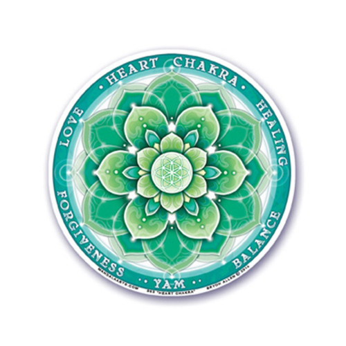 4th Heart Chakra Window Sticker