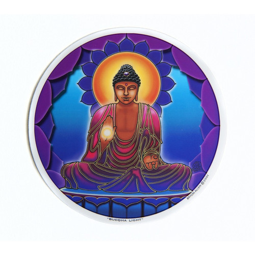 Buddha Light Window Sticker