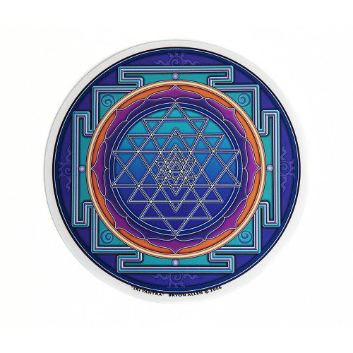 Sri Yantra Window Sticker