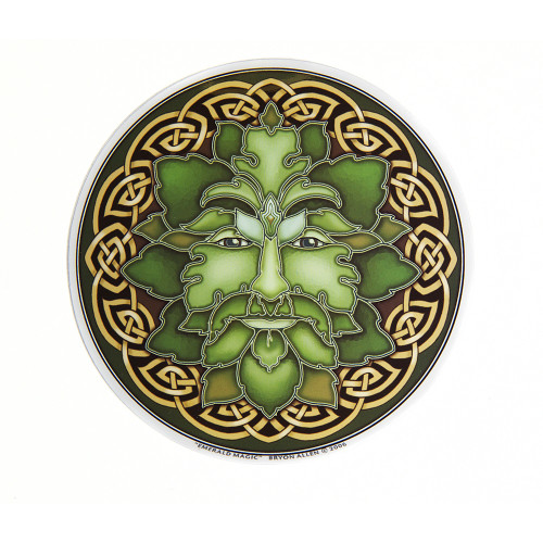 Emerald Magic Green Man Window Sticker