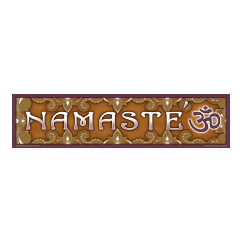 Namaste Bumpersticker