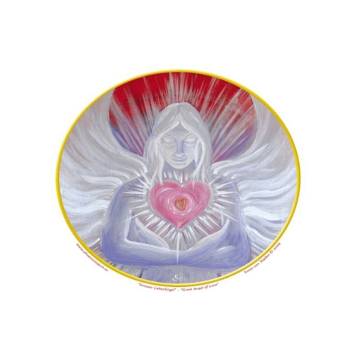 Great Angel Of Love Window Sticker