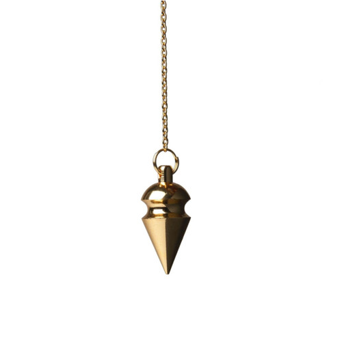 Rounded Conical Pendulum (Brass Gold-Plated)