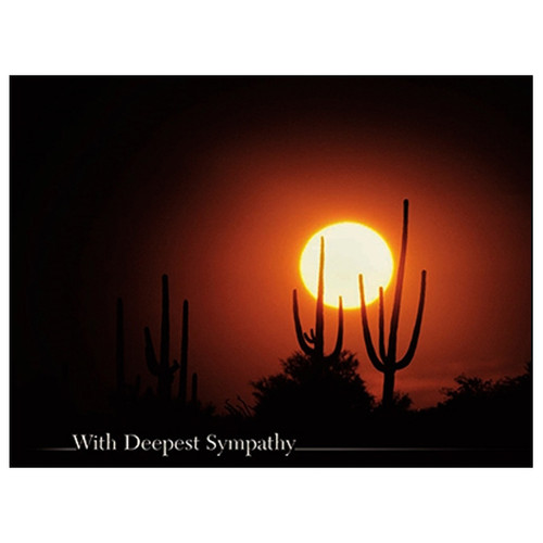 Desert Sunset Greeting Card (Sympathy)