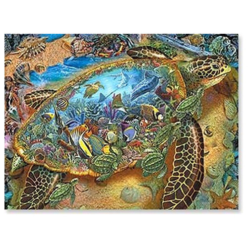 Turtle Tropics Greeting Card (Birthday)