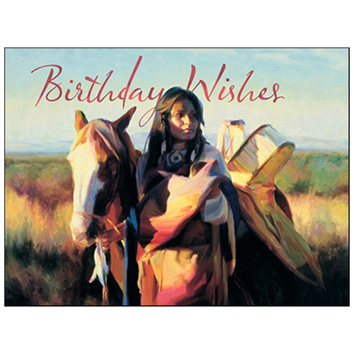 Native Maiden Greeting Card (Birthday)