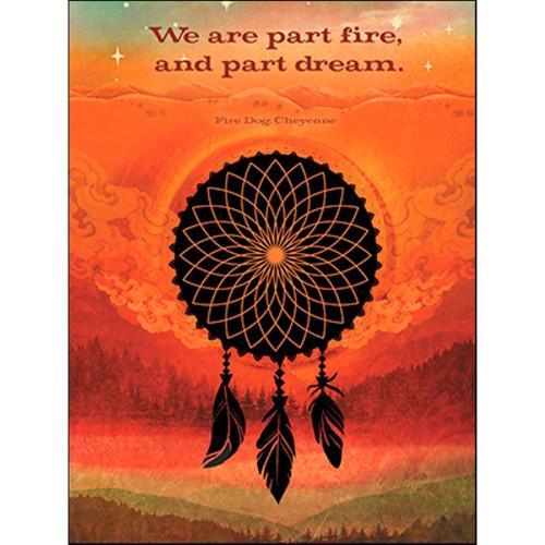 Fire Dreamcatcher Greeting Card (Birthday)