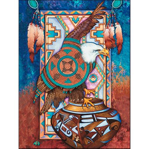 Eagle on Vase Greeting Card (Birthday)