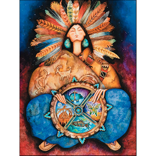 Native Blessings Greeting Card (Birthday)