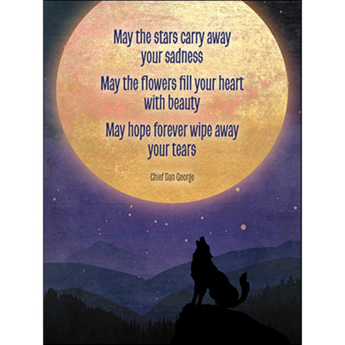 Wolf Moon Stars Greeting Card (Sympathy)