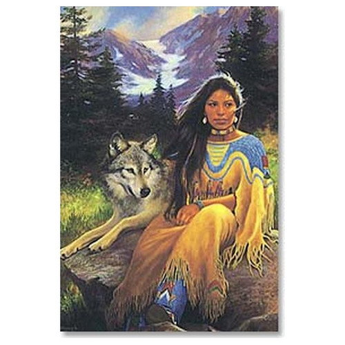 Maiden And Wolf  On Rock Magnet