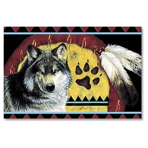 Native American Wolf Magnet