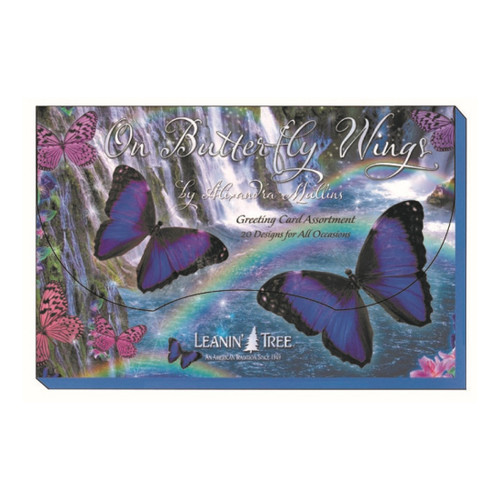 On Butterfly Wings Greeting Card Box (20 Assorted Cards)