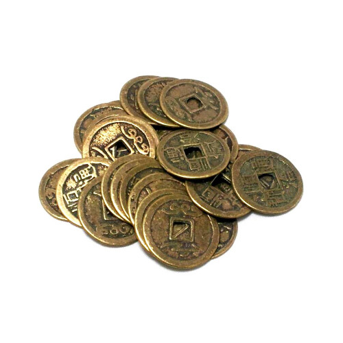 Chinese Antiqued Lucky/Wealth Copper Coins (Bag of 24)