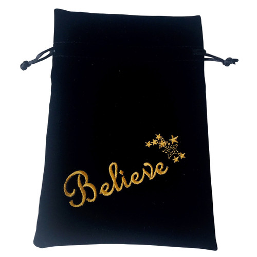 Believe/Stars Tarot / Oracle Card Bag - Black