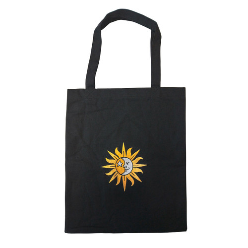 Sun & Moon Embroidered Tote Bag