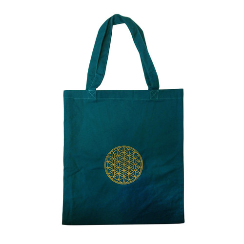 Flower of Life Embroidered Tote Bag