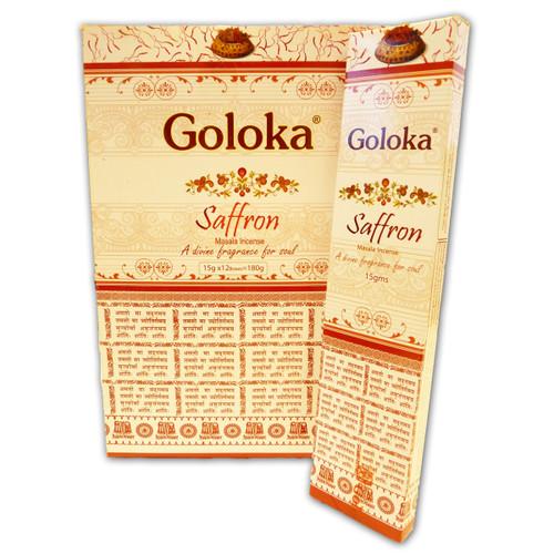 Saffron Masala Goloka Incense Sticks