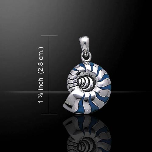 Nautilus Pendant (Sterling Silver)