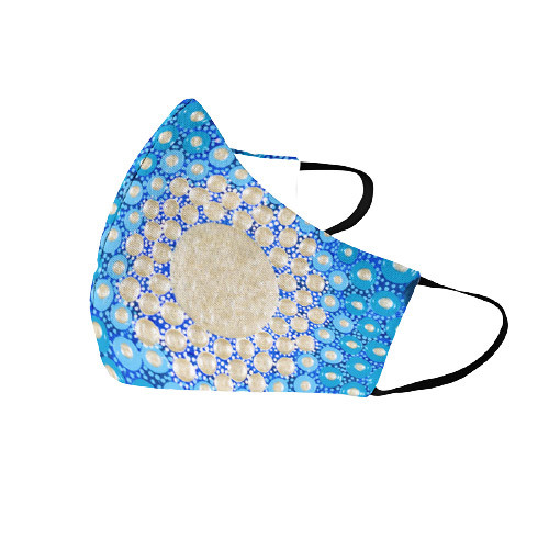Vibrant Blue Face Mask (Sizes S, M, L)