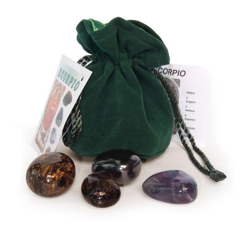 Scorpio Crystals Tumblestone Set