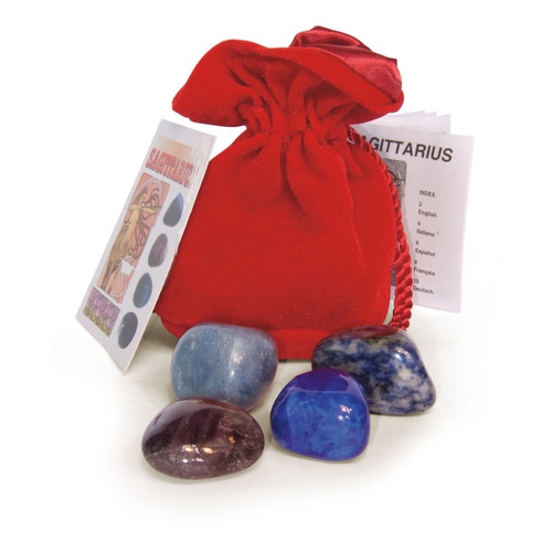 Sagittarius Crystals Tumblestone Set