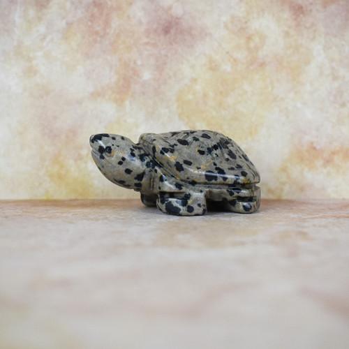 Dalmation Jasper Crystal Turtle