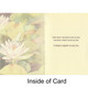 Waterlilies & Dragonfly Card (Sympathy Message)