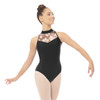 ABSTRACT MESH HALTER LEOTARD