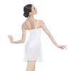 MATTE NYLON-SPANDEX MID-THIGH CAMISOLE DRESS