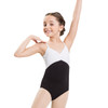 PINCHED FRONT TWO-TONE LEOTARD