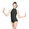MATTE NYLON-SPANDEX MOCK NECK LEOTARD