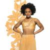 Mesh Inset Bra Top | Gold & White