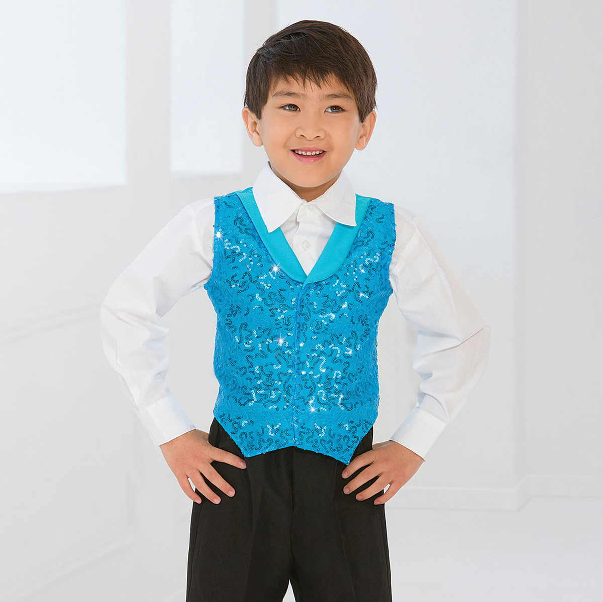 SHOW BUSINESS SEQUIN VEST