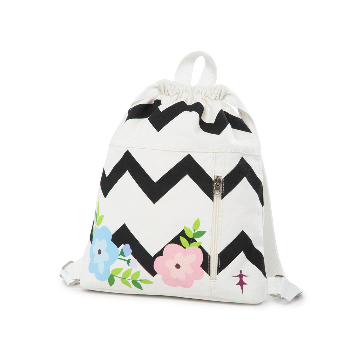 Chevron Floral Backpack
