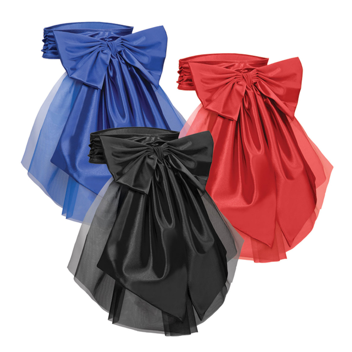 Satin Bow Bustle