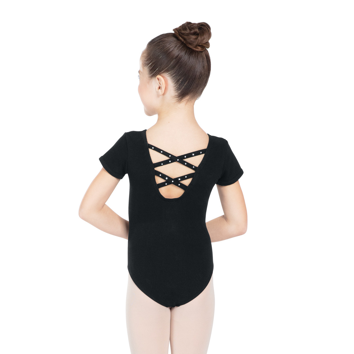 Seamless Rhinestone Crisscross Back Leotard