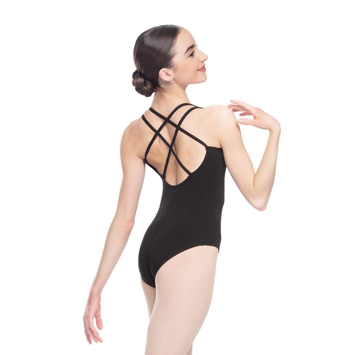 COTTON-SPANDEX STRAPPY BACK LEOTARD