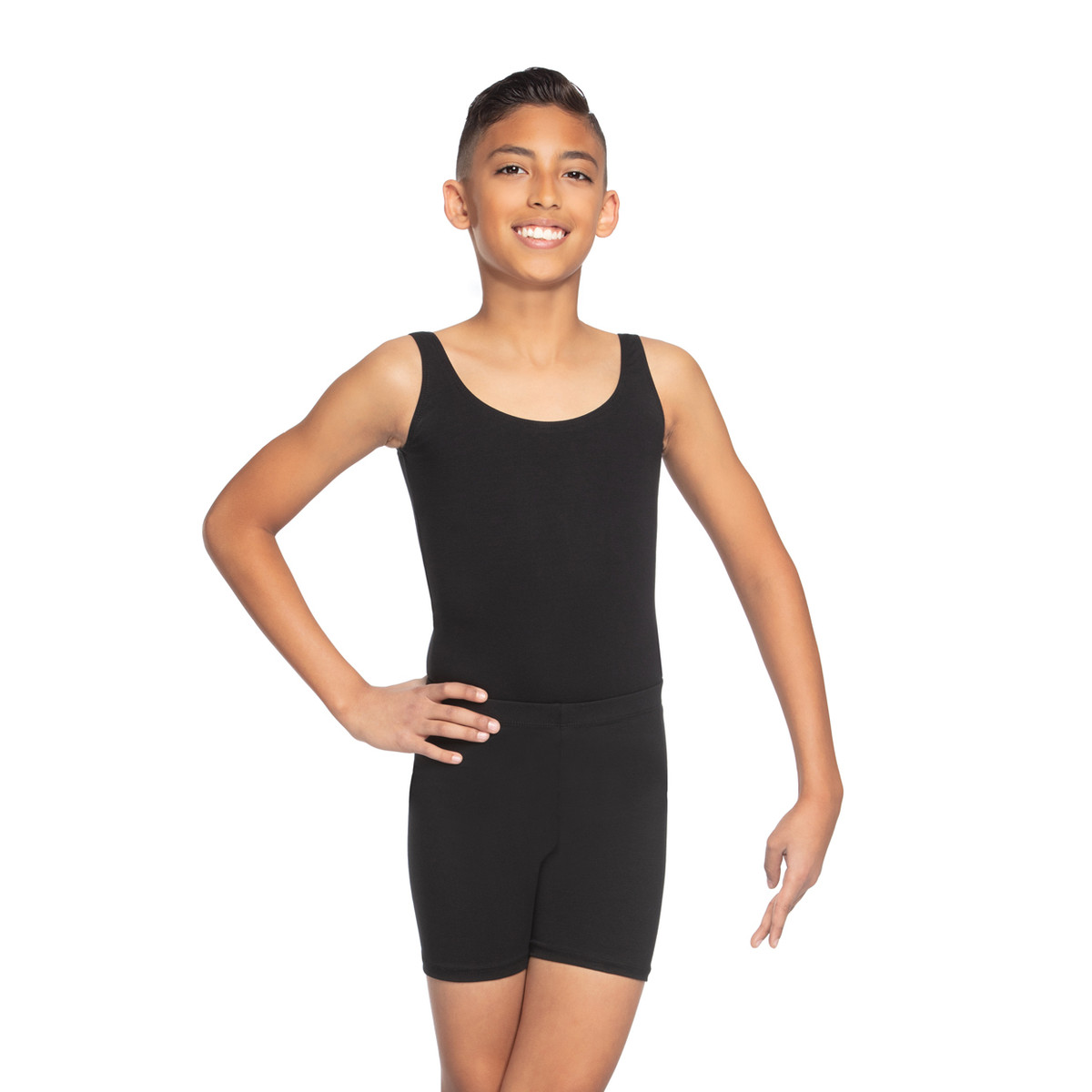 BOY'S & MEN'S COTTON-SPANDEX TANK LEOTARD