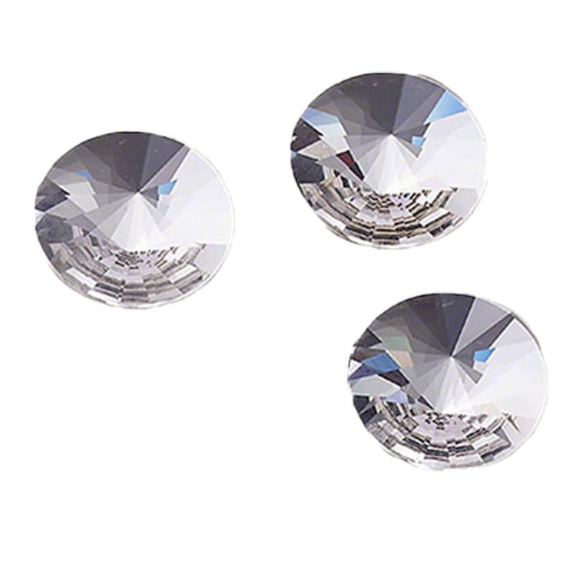 Swarovski Rivoli Jewel Cut Crystal Flat Back