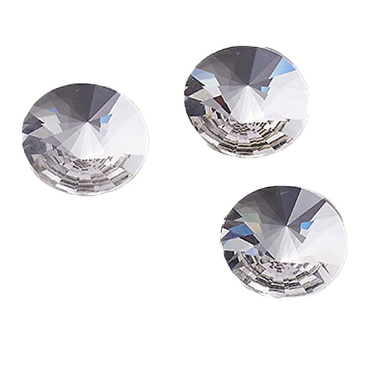 Swarovski Rivoli Jewel Cut Crystal Flat Back