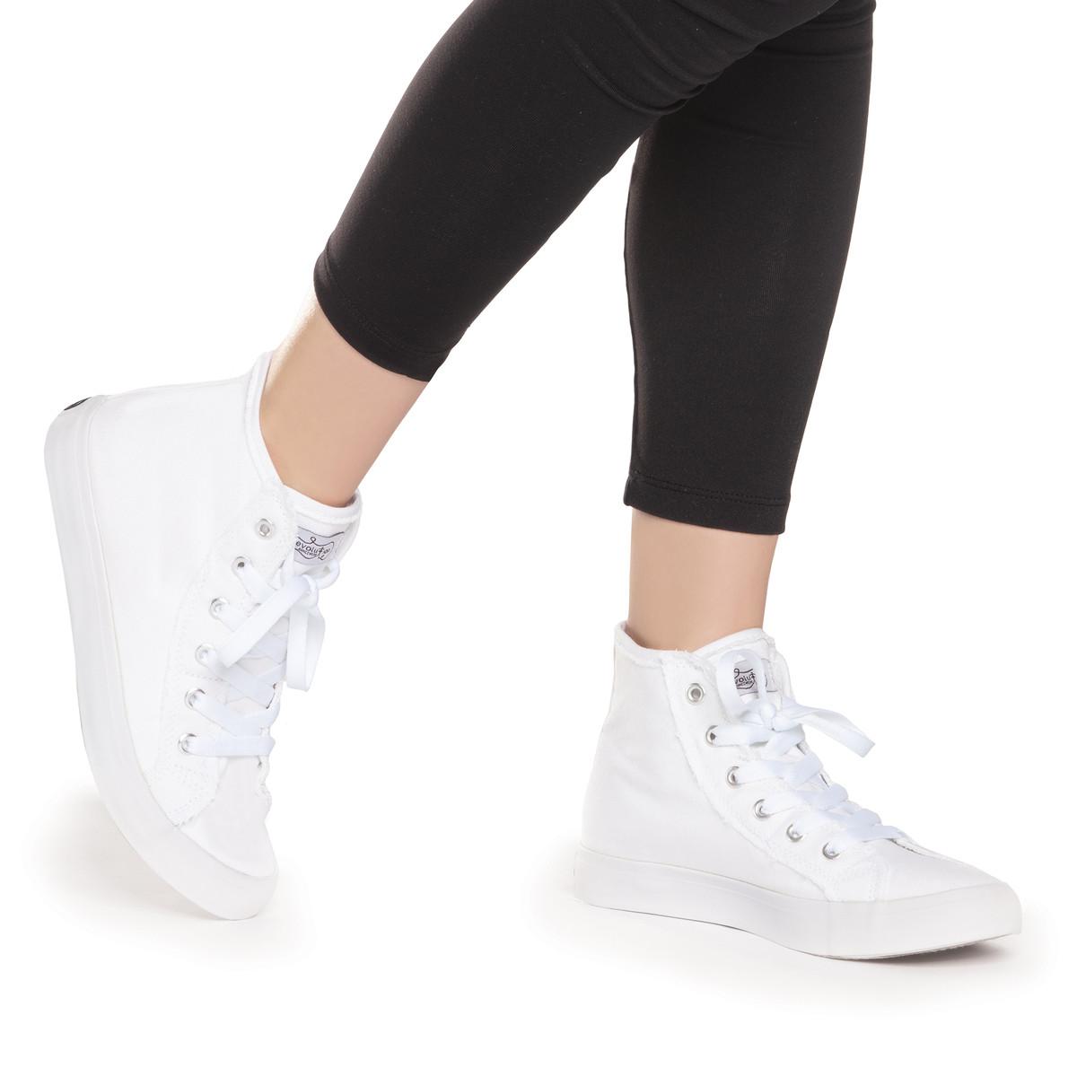 Classic High Top Sneaker | White