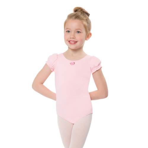 Girl's Puffy Sleeve Leotard