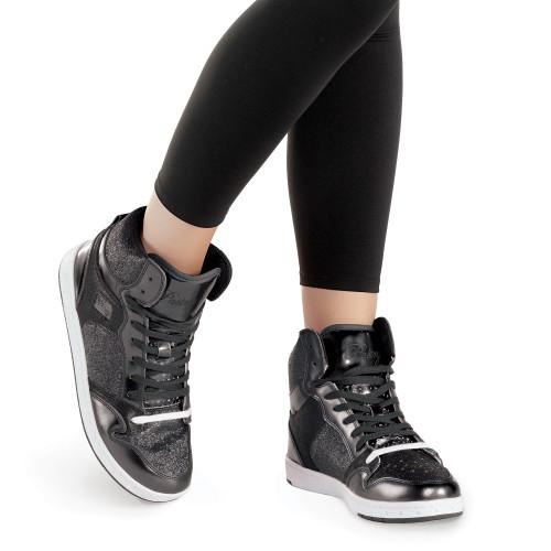 Pastry Glam Pie Glitter Sneaker | Black